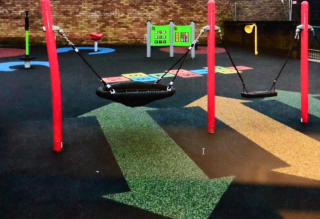 Photo of new play area at Ferriston