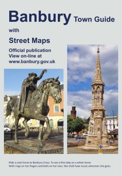 Photo of front cover of official town guide