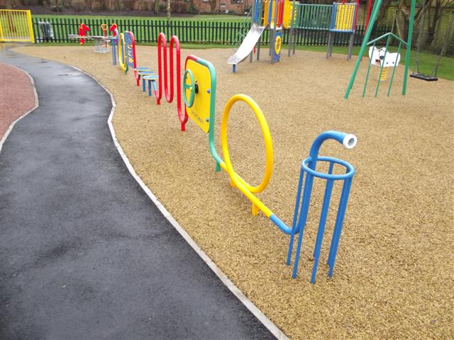New pathway in play area
