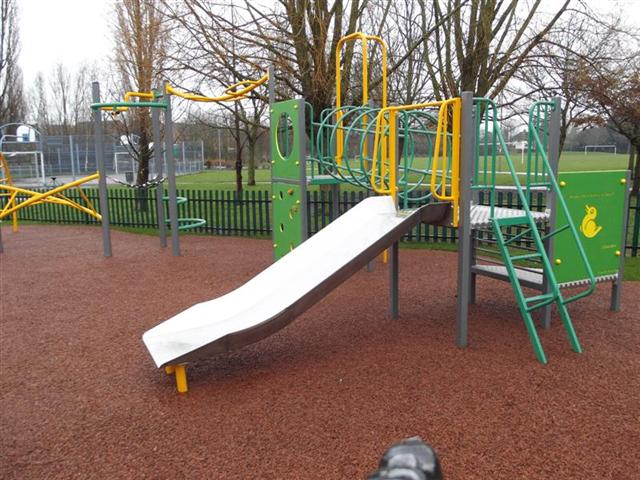 New equipment in play area